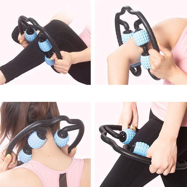 4-Point Ball Roller Massage Stick