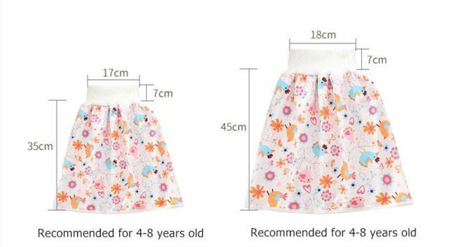 Comfy children's adult diaper skirt shorts 2 in 1
