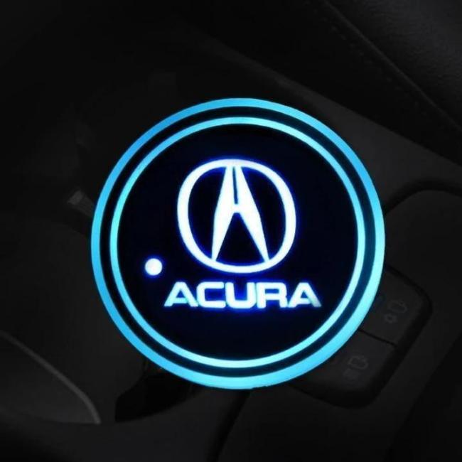 7 Colors Led Changing Car Logo Cup Coaster (2 PCS Set)