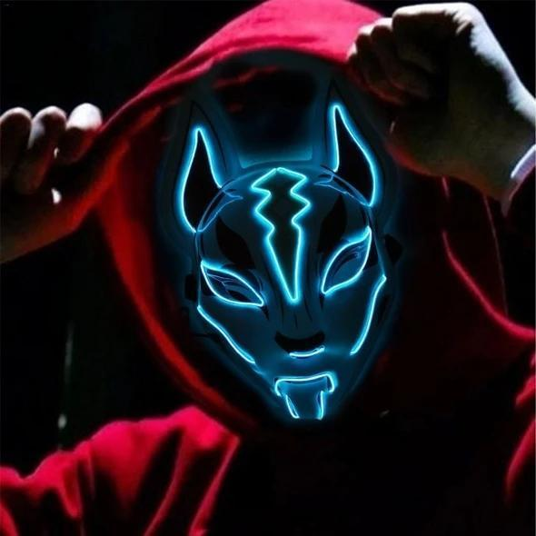 Fox Full Face Neon Mask