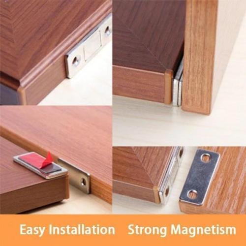 Punch-free Magnetic Door Closer