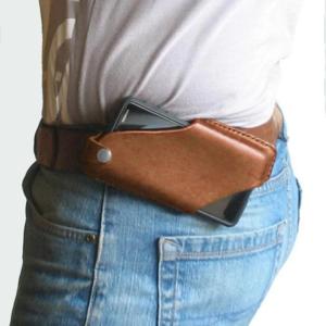 Men Leather Waist Belt Bag