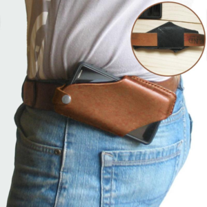Men Leather Waist Belt Bag