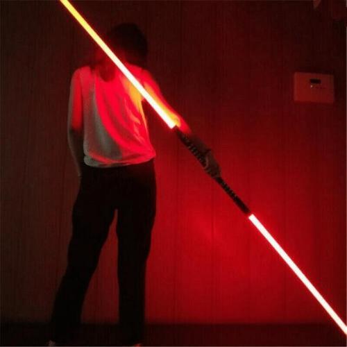 2-IN-1 LED LIGHT UP SWORDS SET FX DOUBLE BLADED DUAL SABER