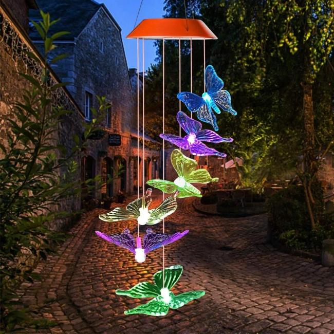 Solar-Powered Butterfly Lights
