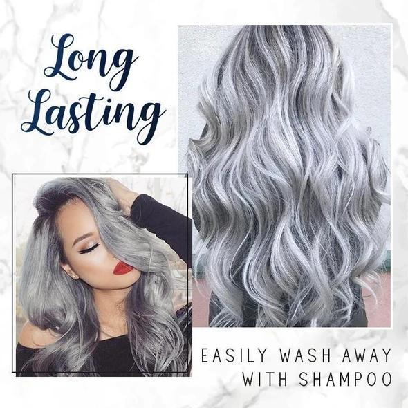 Silver Grey Hair Color Wax