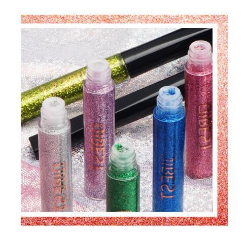 Maquilhagem de Foam Metálico Espuma Líquido Brilho dos Olhos Maquilhagem Protector Solar Set Sunshadow