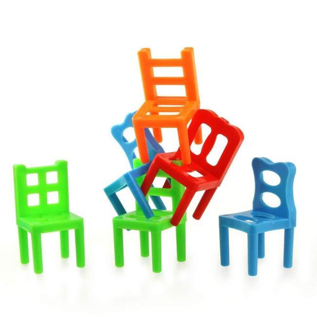 Chairs Stacking Tower Balancing Game