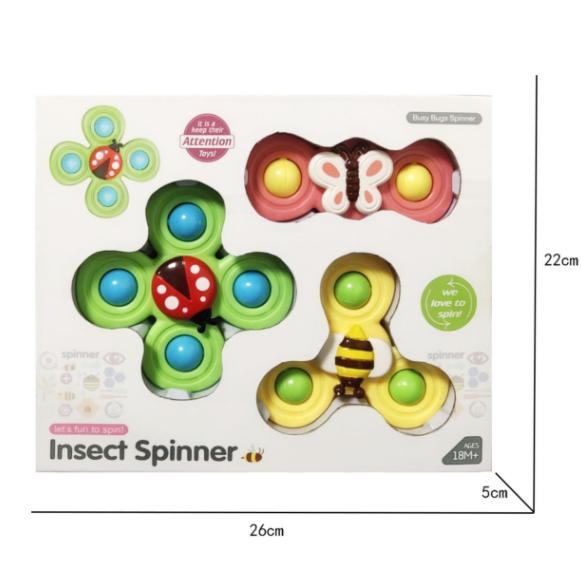 3PCS Sucker Spin Toy