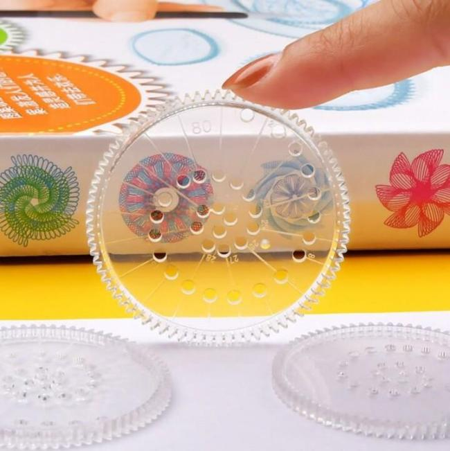 Spirograph Drawing Ruler Set