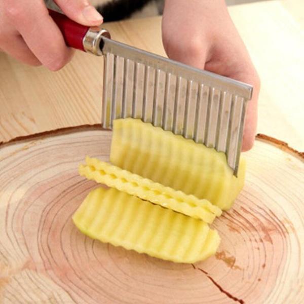 Potato Wavy Edged Knife Cutting Peeler