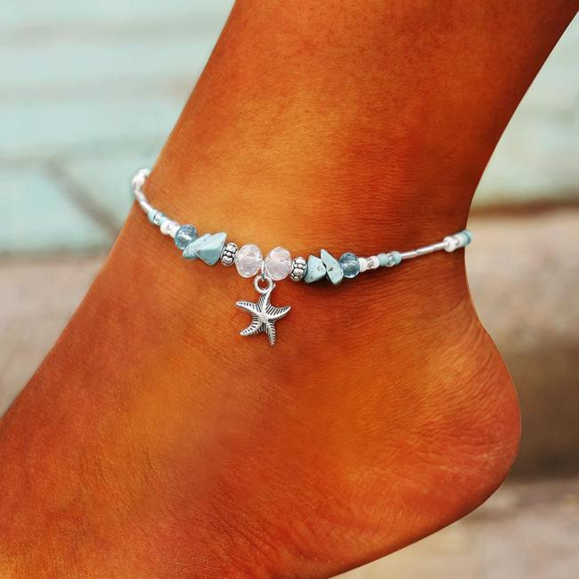 Summer Handmade braided gravel rope braided anklet