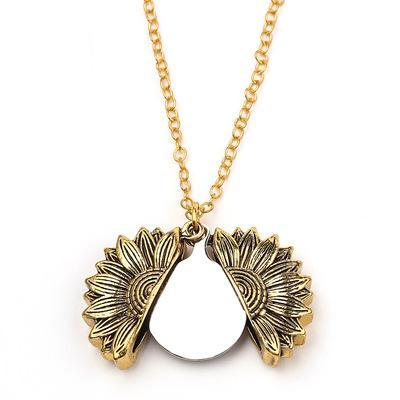 Sunflower necklace(Personalized)