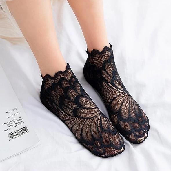 Amazing Crystal Peacock Sock