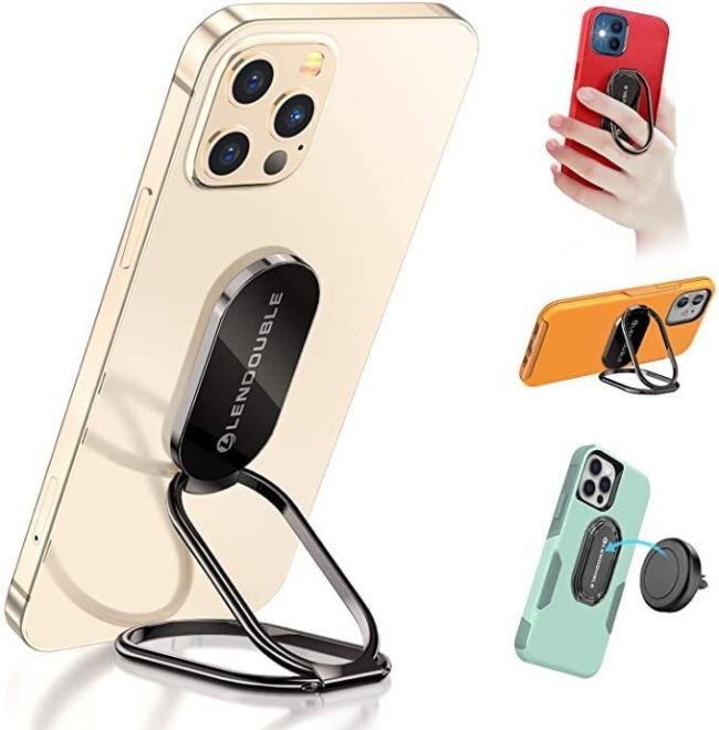 Ultra-Thin Cell Phone Back Grip Foldable Cellphone Stand