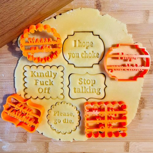 Cookie Molds With Good Wishes