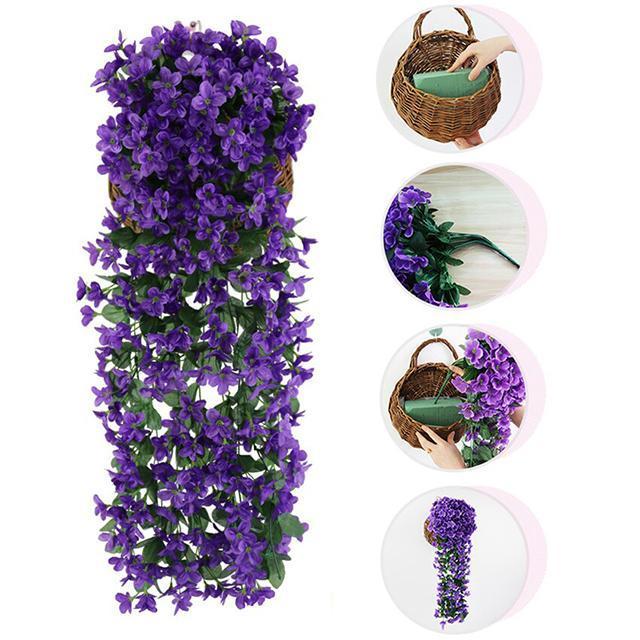 Vivid Artificial Hanging Orchid Bunch(2pcs)