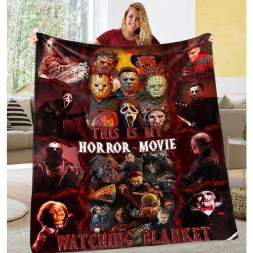 This Is My Horror Movie Watching Blanket - Halloween Quilt, Blanket