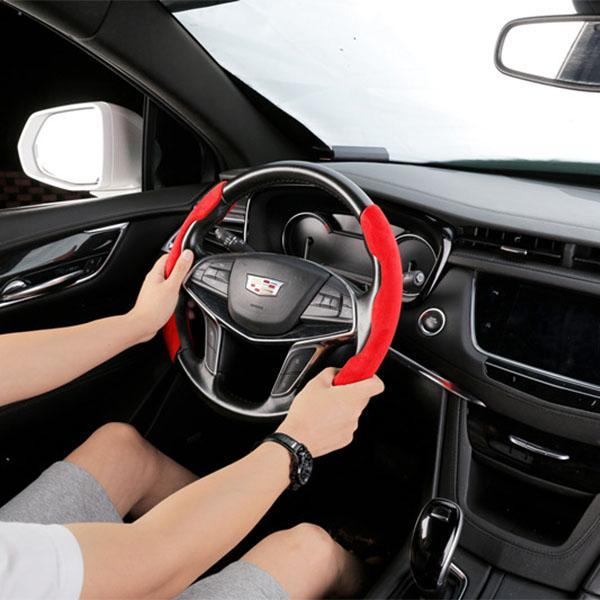 Car Anti-Skid Plush Steering Wheel Cover(2PCS) MAIN FEATURES  【Universal】 This product is professionally manufactured and designed, and is suitable for steering wheels of any size and diameter of any car model. Very suitable after installation. 【Increase