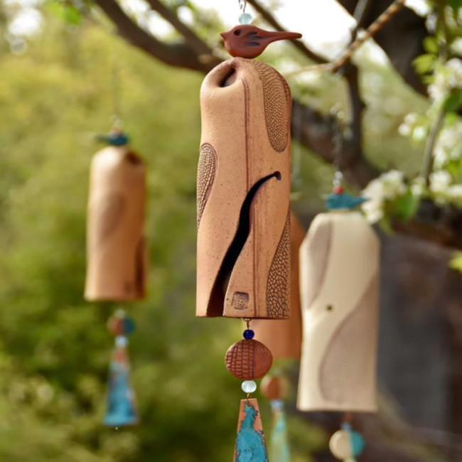 Beautiful Rustic Dragonfly Wind Chimes, Boho Handmade Garden Decor Gift