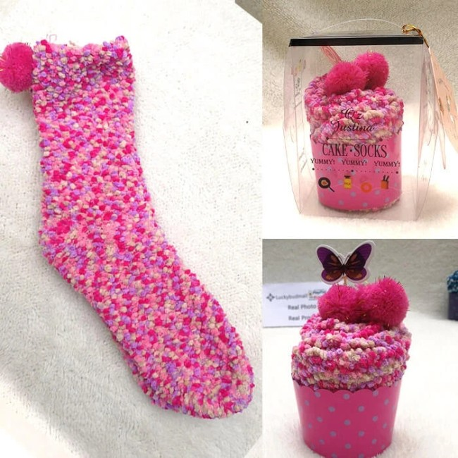 (🎅EARLY CHRISTMAS SALE )Winter Fuzzy Slipper Socks WIth Gift Box