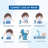 [25 Pack] Children Kids Safety Face Mask Disposable Protective Mask - 3 ply Earloop, Non-medical