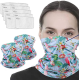 2 Pack Multi-Purpose Neck Gaiter with 10 Pcs Safety Carbon Filters for Men Women Festivals/Sports/Outdoors