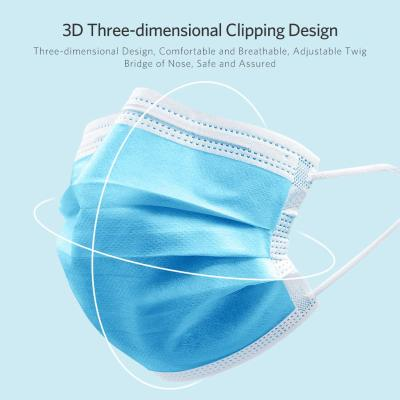 [20,000 PCS] On sale FDA and CE approved Disposable face mask, Blue, Ship from China