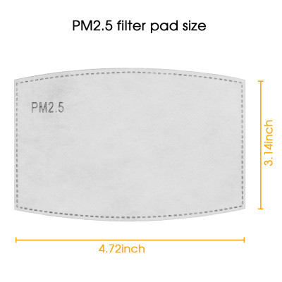 10 Pcs Pm2.5 Activated Carbon Filters Meltblown Non-Woven Cloth 5 Layers Filters for Kids and Adults