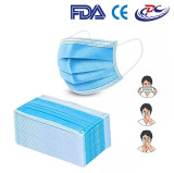 Wholesale 50 Disposable Safety Face Masks 3ply Non-woven Mouth Masks for Adults Protective Mask - 3 ply Earloop, Non-medical, Blue