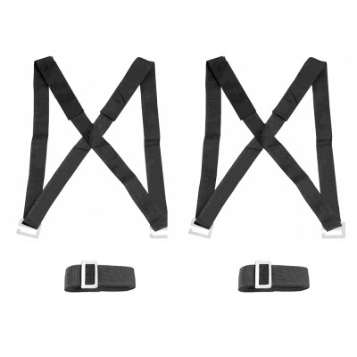 Moving Straps, 2-Person Lifting and Moving System - Easily Move, Lift, Carry Furniture, Appliances, Mattresses, Heavy Object Without Back Pain. Great Tool for Moving Supplies (Black)