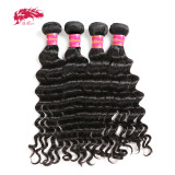 Ali Queen Hair Brazilian Hair Natural Wave Hair Extensions 10-26 inches 100% Remy Human Hair Bundles Natural Color