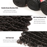 Ali Queen Hair Deep Wave Brazilian Hair Weave Bundles Remy Hair Weaving 12 -24 inches Human Hair Extension Natural Color
