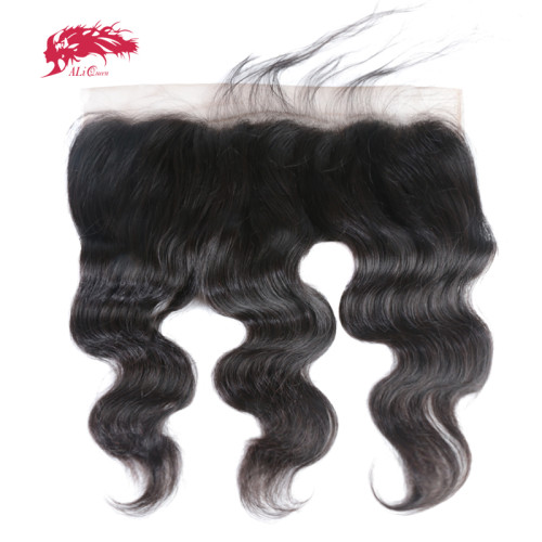 Ali Queen Hair Swiss Lace Brazilian Body Wave 13x4 Lace Frontal Ear To Ear Pre Plucked With Baby Hair High Quality Human Hair Free Part