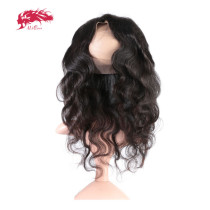 360 Lace Frontal Virgin Human Hair Brazilian Body Wave Pre Plucked Hairline Lace Frontal Ali Queen Hair 10-20 inches Natural Color