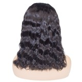 150 Density 13x6 Lace Front Wigs Natural Wave Pre-Plucked Short Bob Wigs