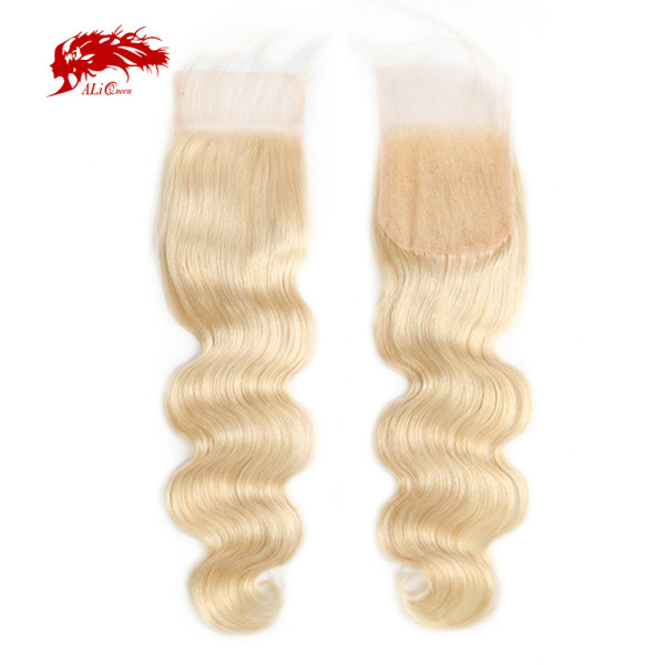 4x4 Lace Closure Free Part Brazilian Virgin Body wave Hair 10 ~20 Inches  613# Lace Closure