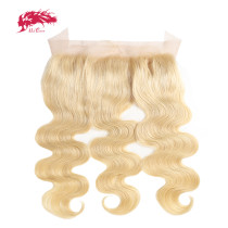 Ali Queen Hair 613# Pre-Plucked Lace Frontal Brazilian Virgin Human Hair Ear to Ear 13x4 Blonde Lace Frontal