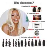 Ali Queen Hair Brazilian Remy Human Hair Weaves Bundles 613#/33#/30#/27#/99J#/BURG# Body Wave Human Hair Extension