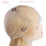 Virgin Remy Hair Short Bob Wigs 150 Density 613# Blonde Lace Front Wigs for Black Women