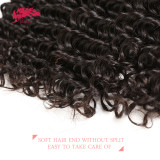 Ali Queen Hair Products Deep Wave Brazilian Virgin Hair Bundles Natural Color 12 -30 inches 100% Unprocessed Human Hair Weave Bundles