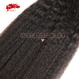Ali Queen Hair Yaki Straight Human Hair Virgin Hair Extension 14-24 inches Brazilian Hair Weave Bundles