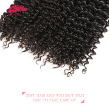Ali Queen Hair Kinky Curly Brazilian Virgin Hair Weft Deal Natural Color 10 -28 inches In Stock 100% Human Hair Weaves Bundles