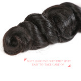 Ali Queen Hair Brazilian Loose Wave Hair Extension 100% Human Hair Weaves Bundles 12-26 inches Remy Hair Natural Color