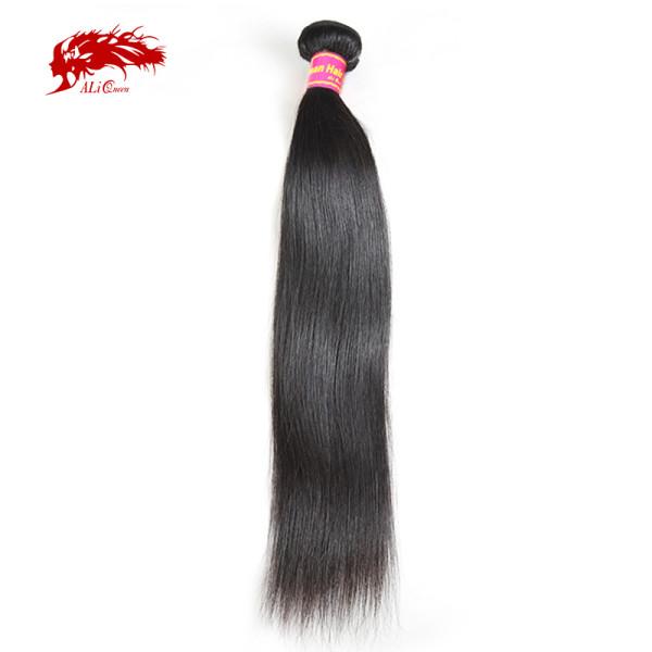 Ali Queen Hair Brazilian Straight Hair Weave Bundles 8-36 inches 100% Human Hair Bundles Remy Hair Natural Color Hair