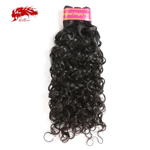 Ali Queen Hair Brazilian Virgin Hair Weaves Bundles Water Wave Human Hair Extension Natural Color 10-30 inches Hair Weaving