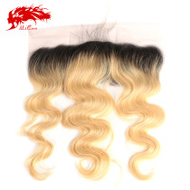Ali Queen Hair Body Wave Brazilian Virgin Hair 13x4 Lace Frontal 1b613# Pre-Plucked With Baby Hair Swiss Lace Frontal