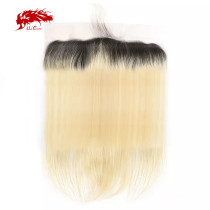Ali Queen Hair Straight Virgin Hair Lace Frontal 1b613# 13x4 Swiss Lace Brazilian Human Hair Lace Frontal Closure