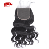 6x6 Swiss Lace Closure Pre-Plucked With Baby Hair 10-20 Inches Remy Brazilian Body Wave Human Hair Closure