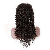 Deep Wave 13x4 Lace Front Wig Natural Black Lace Frontal Wig Virgin 150% Density Brazilian Deep Wave Curly Human Hair Wigs For Women